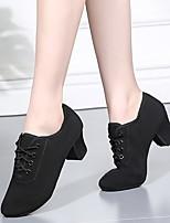 cheap -Women's Dance Shoes Latin Shoes Heel Cuban Heel Black / Red / Performance