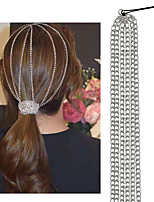 cheap -Women's Hair Jewelry For Party Evening Holiday Street Birthday Party Fashion Classic Aluminum Silver 1pc