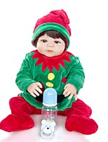 cheap -KEIUMI 22 inch Reborn Doll Baby & Toddler Toy Reborn Toddler Doll Baby Boy Gift Cute Lovely Parent-Child Interaction Tipped and Sealed Nails Full Body Silicone 23D52-C438 with Clothes and Accessories