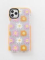 cheap -Case For APPLE iPhone 7 8 7plus 8plus XR XS XSMAX X SE 11 11Pro 11ProMax Translucen Pattern Back Cover TPU flower smiling
