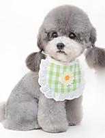 cheap -Dog Dog Bandana Dog Bibs Scarf Triangle Bibs Accessories Dog Clothes Adjustable Yellow Blue Pink Wedding Birthday Costume Shiba Inu Bichon Frise Poodle Polyester Cotton Plaid / Check Flower Party Cute
