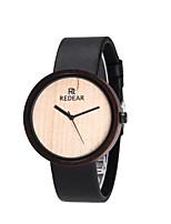 cheap -Men's Sport Watch Quartz Modern Style Stylish Casual Water Resistant / Waterproof Genuine Leather Black Analog - Black