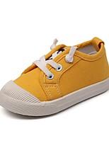 cheap -Girls' Flats Comfort Canvas Little Kids(4-7ys) White / Black / Yellow Summer