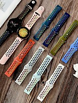 cheap -Rainbow Wristbands For Samsung  Bands 22mm Silicone Replacement wirst Strap for Gear S3 Frontier Classic band 20mm S2 Bracelet