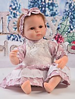 cheap -Reborn Baby Dolls Clothes Reborn Doll Accesories Cotton Fabric for 17-18 Inch Reborn Doll Not Include Reborn Doll Lace Flower Soft Pure Handmade Girls' 3 pcs
