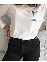 cheap -Women's Sweatshirt Graphic Letter Casual Basic Hoodies Sweatshirts  Cotton Slim White Black Yellow