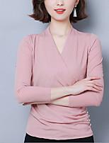 cheap -Ballroom Dance Top Glitter Women's Training Daily Wear Long Sleeve Polyester