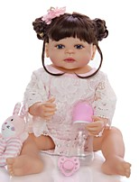 cheap -KEIUMI 22 inch Reborn Doll Baby & Toddler Toy Reborn Toddler Doll Baby Girl Gift Cute Washable Lovely Parent-Child Interaction Full Body Silicone KUM23FS01-WW143 with Clothes and Accessories for