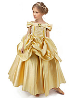 cheap -Princess Belle Dress Flower Girl Dress Girls' Movie Cosplay A-Line Slip Yellow Dress Halloween Children's Day Masquerade Polyester