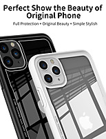 cheap -iPhone11Pro Max Transparent Glass Acrylic Mobile Phone Case XS Max Anti-drop Anti-shock Anti-scratch 6 7 8Plus SE 2020 Protective Case