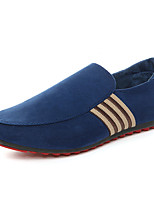 cheap -Men's Summer / Fall Casual Daily Outdoor Loafers & Slip-Ons Canvas / PU Non-slipping Wear Proof Black / Blue