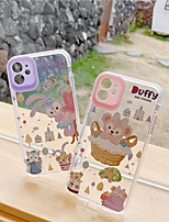 cheap -Case For APPLE  iPhone 7 8 7plus 8plus  XR XS XSMAX  X 11 11Pro   11ProMax Shockproof Transparent Pattern Back Cover Word Phrase Cartoon TPU Silicone