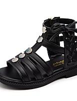 cheap -Girls' Sandals Comfort / Roman Shoes PU Little Kids(4-7ys) / Big Kids(7years +) Walking Shoes Black / Pink / Beige Summer