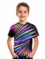 cheap -Kids Boys' Sports & Outdoors Basic Holiday Geometric Short Sleeve Tee Rainbow