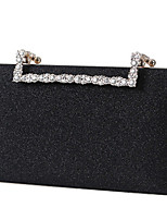 cheap -Women's Bags Polyester Evening Bag Crystals / Chain for Wedding / Event / Party Sillver Gray / Black / Red / Wedding Bags