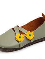 cheap -Girls' Flats Comfort / Ballerina PU Toddler(9m-4ys) / Little Kids(4-7ys) Walking Shoes White / Pink / Green Summer / Fall