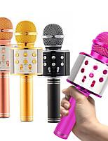 cheap -Professional Bluetooth Wireless Microphone Karaoke Speaker KTV Music Player Singing Recorder Handheld Microphone Mic 1800Mah