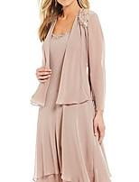 cheap -Long Sleeve Shrugs Chiffon Wedding / Party / Evening Women's Wrap With Solid