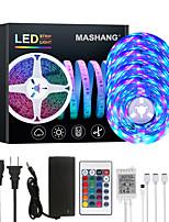 cheap -MASHANG 20M LED Strip Lights RGB Tiktok Lights 1200LEDs Flexible Color Change SMD 2835 with 24 Keys IR Remote Controller and 100-240V Adapter for Home Bedroom Kitchen TV Back Lights DIY Deco