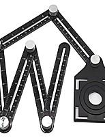 cheap -Aluminium Alloy Six Folding Ruler Tile Hole Locator Masonry Paving Tiles Glass WANXIANG Universal Punched Useful Product