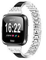 cheap -Watch Band for Fitbit Versa Fitbit Jewelry Design Stainless Steel Wrist Strap