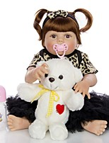 cheap -KEIUMI 22 inch Reborn Doll Baby & Toddler Toy Reborn Toddler Doll Baby Girl Gift Cute Washable Lovely Parent-Child Interaction Full Body Silicone KUM23FS04-WLW05 with Clothes and Accessories for