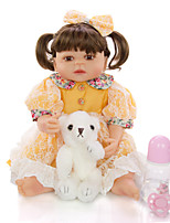 cheap -KEIUMI 22 inch Reborn Doll Baby & Toddler Toy Reborn Toddler Doll Baby Girl Gift Cute Washable Lovely Parent-Child Interaction Full Body Silicone 23D95-C145-T19 with Clothes and Accessories for