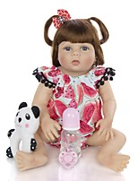 cheap -KEIUMI 22 inch Reborn Doll Baby & Toddler Toy Reborn Toddler Doll Baby Girl Gift Cute Washable Lovely Parent-Child Interaction Full Body Silicone 23D29-C294-H11-T10 with Clothes and Accessories for