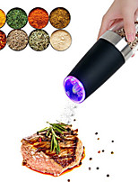 cheap -Electric Salt and Pepper Grinder Stainless Steel Pepper and Salt Mill with  LED Light Perfect for Different Cooked Food