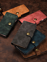 cheap -Case For Sony Sony Xperia XZ Card Holder Shockproof Flip Full Body Cases Solid Colored PU Leathermagnetic split