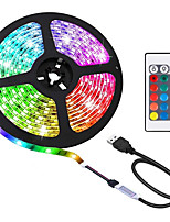 cheap -USB LED Light Strip 5m 300 LEDs 20 Multi Colors 2835 RGB LED Light Strip 300LEDS 24-Key Remote Control for Home Kitchen Party Christmas Decoration