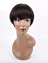 cheap -Wig Short Natural Straight Pixie Cut Natural Hot Sale Capless Brazilian Hair Women's Natural Black #1B