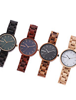 cheap -Women's Quartz Watches Quartz Modern Style Stylish Casual Water Resistant / Waterproof Wood Analog - White+Coffee Black Red