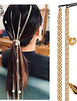 cheap -Women's Hair Jewelry For Anniversary Holiday Street Birthday Party Shell Classic Aluminum Imitation Pearl Golden 1pc