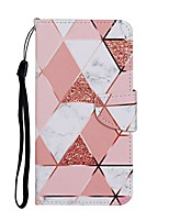 cheap -Case For Samsung Galaxy A01 A11 A21 A31 A41 A51 M10 A10 A20 A30 A40 A20E A50 A30S A70 Wallet Card Holder with Stand Full Body Cases Marble PU Leather