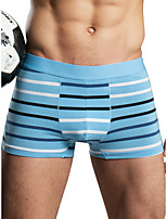 cheap -Men's Basic Boxers Underwear - Normal Mid Waist Black Blue Red M L XL