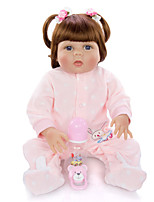 cheap -KEIUMI 22 inch Reborn Doll Baby & Toddler Toy Reborn Toddler Doll Baby Girl Gift Cute Lovely Parent-Child Interaction Tipped and Sealed Nails Full Body Silicone 23D29-C36-H03 with Clothes and