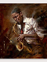 cheap -IARTS®Hand Painted Musician Oil Painting   with Stretched Frame For Home Decoration
