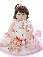 cheap -KEIUMI 19 inch Reborn Doll Baby & Toddler Toy Reborn Toddler Doll Baby Girl Gift Cute Washable Lovely Parent-Child Interaction Full Body Silicone 19D19-C373-T23 with Clothes and Accessories for