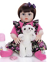 cheap -KEIUMI 19 inch Reborn Doll Baby & Toddler Toy Reborn Toddler Doll Baby Girl Gift Cute Washable Lovely Parent-Child Interaction Full Body Silicone 19D09-C326-H86-T19 with Clothes and Accessories for