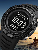 cheap -SKMEI Men's Digital Watch Digital Modern Style Sporty Army Calendar / date / day Digital Black+Gloden White+Gold Black / One Year / Silicone / Chronograph / Dual Time Zones / Stopwatch
