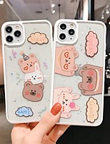 cheap -Case For Apple iPhone 7 8 7plus 8plus X XR XS XSMax SE(2020) iPhone 11 11Pro 11ProMax Shockproof Ultra-thin Pattern Back Cover Word Phrase Transparent Animal TPU
