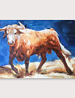 cheap -IARTS Hand Painted bull Oil Painting with Stretched Frame For Home Decoration With Stretched Frame