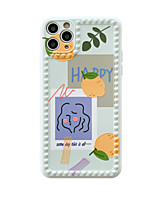 cheap -Case For iPhone 7 7Plus iPhone 8 8Plus iPhone X iPhone XS XR XS max iPhone 11 11 Pro 11 Pro Max SE Pattern Back Cover Food Word Phrase TPU