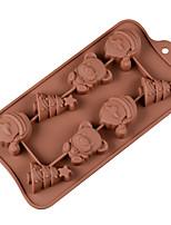 cheap -Cake Molds Christmas Silicone Cake Molds Everyday Use Creative 8 company Santa Bear