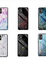 cheap -Case For Samsung Galaxy  S10Lite S20 S20Plus S20Ultra Note 10Lite 20 20Plus A51 A51(5G) A71 A71(5G) A91 M80S A81 M60S Shockproof Pattern Back Cover Marble TPU Tempered Glass