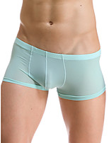 cheap -Men's 1 Piece Basic Boxers Underwear - Normal Low Waist Light Blue White Black M L XL