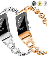 cheap -Watch Band for Fitbit Charge 4 Fitbit Jewelry Design Stainless Steel Wrist Strap
