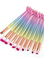 cheap -Professional Makeup Brushes 10pcs Professional Soft Full Coverage Comfy Plastic for Eyeliner Brush Blush Brush Foundation Brush Makeup Brush Eyeshadow Brush