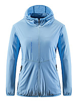 cheap -Men's Hiking Jacket Hiking Windbreaker Summer Outdoor Sunscreen Breathable Quick Dry Ultra Light (UL) Top Spandex Camping / Hiking Hunting Fishing White / Light Green / Pink / Sky Blue